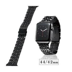 エレコム Apple Watch 44mm/ステンレスバンド/7連/ブラック AW-44BDSS7BK【ポイント10倍】