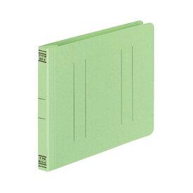 (まとめ) コクヨ フラットファイルV(樹脂製とじ具) B6ヨコ 150枚収容 背幅18mm 緑 フ-V18G 1パック(10冊) 【×10セット】