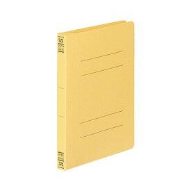 (まとめ) コクヨ フラットファイルV(樹脂製とじ具) B6タテ 150枚収容 背幅18mm 黄 フ-V13Y 1パック(10冊) 【×10セット】