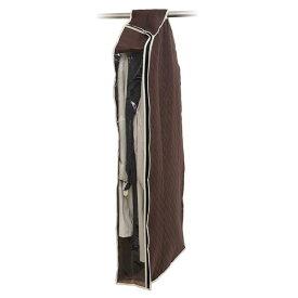 洋服カバー/衣類収納カバー 【ロング】 着丈約120cm迄 コート・ワンピース用 炭入り消臭 透明窓付き