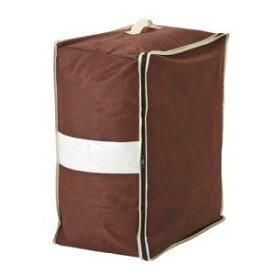 羽毛布団 収納袋/布団収納 【ダブル用 タテ置き可】 炭入り消臭 コンパクト収納 透明窓付き