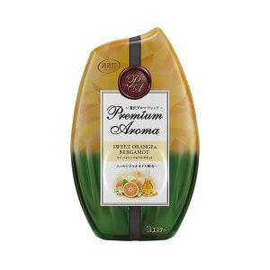 (まとめ)エステー お部屋の消臭力 PremiumAroma スイートオレンジ&ベルガモット 400ml 1個【×10セット】