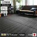 洗える PPカーペット アウトドア ペット ブラウン 江戸間8畳(約348×352cm)