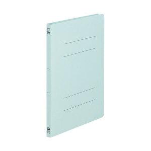 (まとめ)TANOSEE フラットファイル(ノンステープルタイプ)A4タテ 150枚収容 背幅18mm 青 1セット(100冊:10冊×10パック)【×2セット】