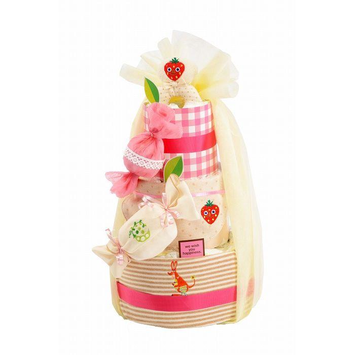 Diaper Cake ダイパーケーキ オーガニックキャンディーいちご GFDC024【ポイント10倍】【送料無料】【int_d11】