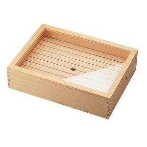 ヤマコー 木製 ネタ箱 目皿・アクリル蓋付 小 ANT1102 【ポイント10倍】