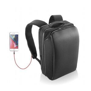 エレコム 圧倒的なポケット数 4気室 大容量 バックパック リュック ビジネスバッグ USB充電ポート付 Ruminant BM-RNBP01BK(代引不可)【送料無料】