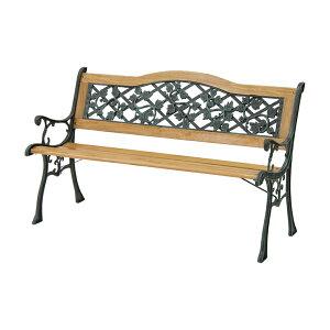 パークベンチ G232 木製 アイアン ガーデン 2人掛け シンプル ベンチ(代引不可)【送料無料】