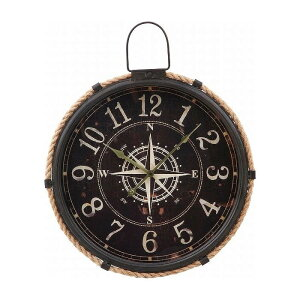 掛時計 コンパス Φ47cm W470×D70×H580mm スチール ウォッチ おしゃれ(代引不可)【送料無料】