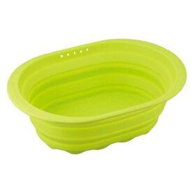 和平フレイズ スキッとシリコーン 小判型洗い桶 グリーン SR-4882【S1】
