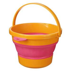 折りたたみ SOFT BUCKET MINI ソフトバケツミニ 3.7L オレンジ 伊勢藤 バケツ たらい 桶 バスケット コンパクト 折り畳み
