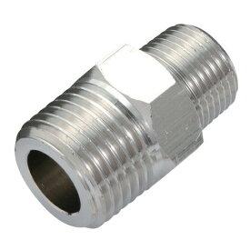電動工具・エアーツールのエアー配管継ぎ手AT-64。エアー配管継手(中間異径ニップル)。ホース・機器の接続に(PT3/8インチオネジ・PT1/2オネジ)。