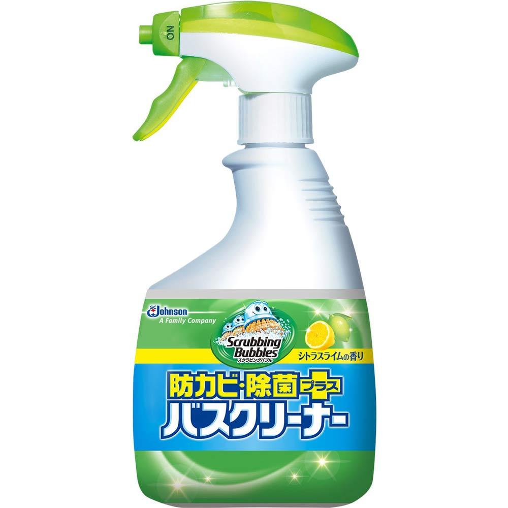 ジョンソン スクラビングバブル防カビ・除菌プラスバスクリーナー シトラスライムの香り 本体【ポイント10倍】