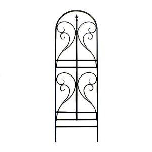 アイアントレリス フィニアル 4枚組 4個セット フェンス 高い 高め アンティーク ガーデン ガーデニング おしゃれ 北欧 庭園(代引不可)【送料無料】