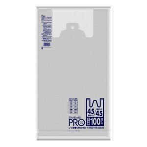 6個セット 日本サニパック Y8N レジ袋 45/45号 半透明 100枚(代引不可)【送料無料】