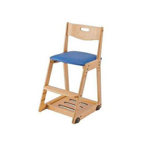 イトーキ 学習椅子 学習チェア 木製チェア キッズチェア 木製チェア ソフトレザー(マリンブルー) KM36-74MB(代引不可)【ポイント10倍】【送料無料】【smtb-f】