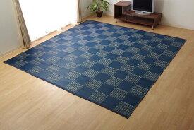 ラグ 洗える PPカーペット ウィード ネイビー 約174×220cm(代引不可)【送料無料】