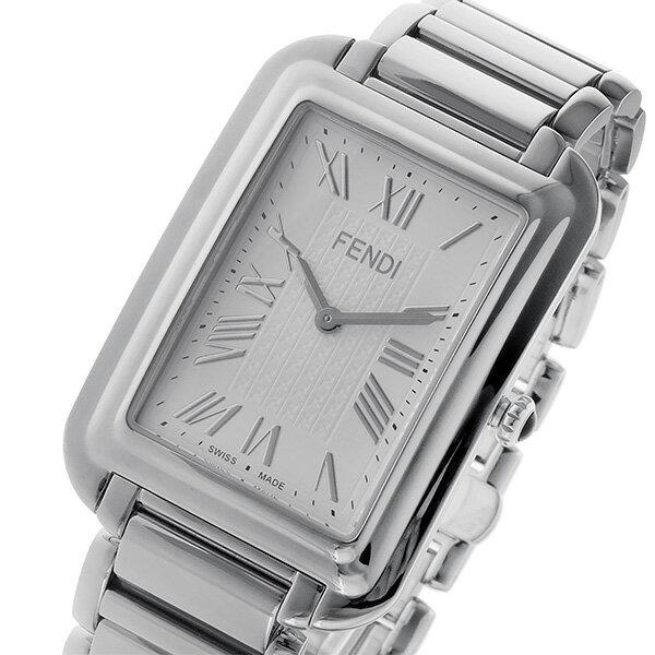 フェンディ FENDI クラシコ レクタンギュラー クオーツ メンズ 腕時計 F703014000 ホワイト【送料無料】【S1】
