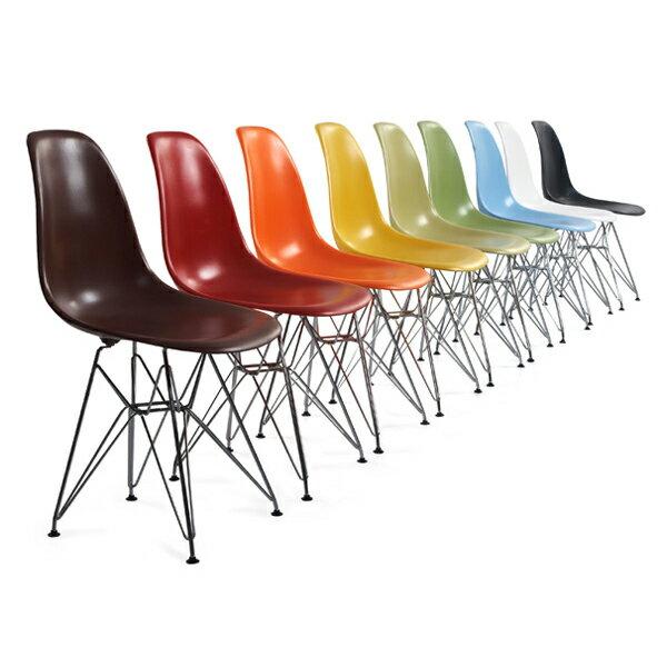 チャールズ&レイ・イームズ シェルサイドチェア ワイヤーベース DSR Eames Shell Side Chair シェルチェア エッフェルベース イームス リプロダクト(代引き不可)【1年保証付】【送料無料】【ポイント10倍】
