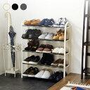 シューズラック 5段 収納 靴箱 シューズボックス 下駄箱 薄型 スリム 靴入れ シューズbox 一人暮らし【ポイント10倍】…