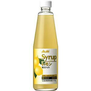 アサヒ シロップ レモン 果汁入り 600ml×12本(代引き不可)