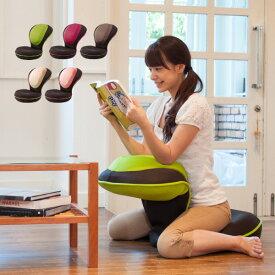 座椅子 リクライニング 背筋がGUUUN 美姿勢座椅子 クッション 腰痛 椅子 骨盤矯正 コンパクト 0070-2058【送料無料】