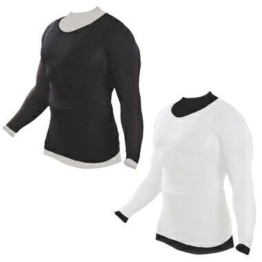 加圧インナーシャツ 加圧シャツ 長袖 メンズ ブラック ホワイト Muscle Project マッスルプロジェクト 棚橋弘至 推薦【ポイント10倍】【送料無料】