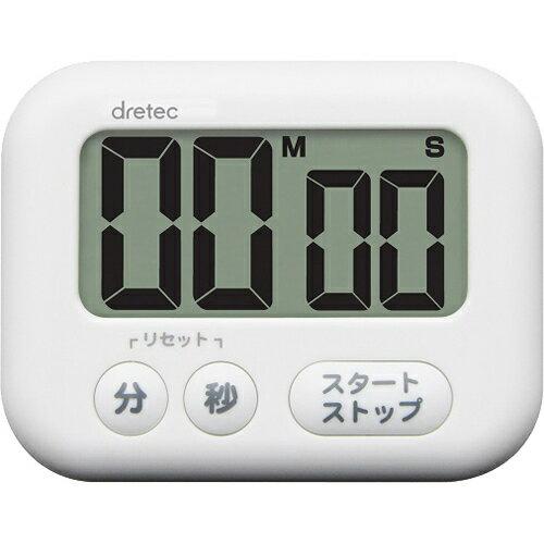 ドリテック 大画面タイマー シャボン ホワイト T-541WT【ポイント10倍】