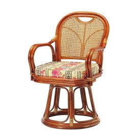 ラタン回転椅子 ハイタイプ SH440 R-440S ロータイプ 高座椅子 座椅子 座いす フロアチェア 椅子 いす 籐 リビング(代引不可)【ポイント10倍】【送料無料】