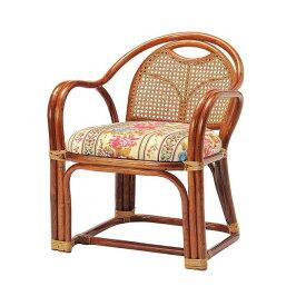 ラタンアームチェア ロータイプ SH390 R-A390 ロータイプ 高座椅子 座椅子 座いす フロアチェア 椅子 いす 籐 リビング(代引不可)【ポイント10倍】【送料無料】