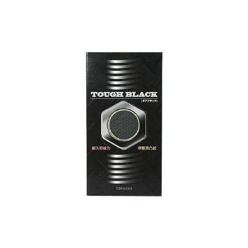 コンドームTOUGH BLACK タフブラックコンドーム ロングプレイ対応!【ポイント10倍】