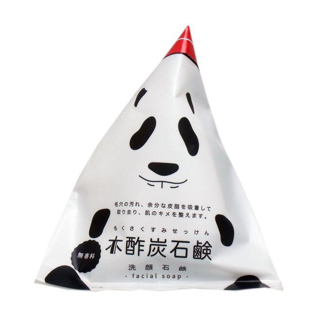 木酢炭石鹸 無香料 泡立てネット付 120g【ポイント10倍】