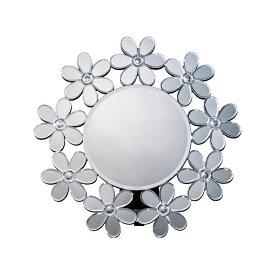鏡 壁掛け 卓上 2way ミラー クロシオ 丸型ミラー フラワー ミラー(代引不可)【ポイント10倍】【送料無料】