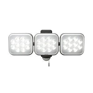 ムサシ RITEX フリーアーム式LEDセンサーライト 12W×3灯 LED-AC3036 防犯ライト 防雨(代引不可)【送料無料】