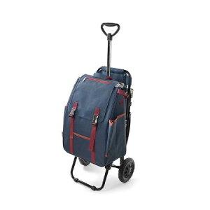 【濃藍カラー】シャルミス ショッピングカート椅子付き 濃藍 15-5032 買い物 買い物袋 買い物かご カゴ ショッピング カート(代引不可)【送料無料】