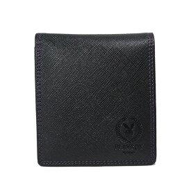 プレイボーイ PLAYBOY ユニセックス 二つ折り短財布 MPB-0061 ブラック【ポイント10倍】