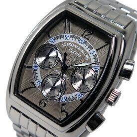 エルジン ELGIN クオーツ メンズ クロノ 腕時計 時計 FK1403S-IV グレー