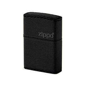 ジッポ ZIPPO REAL LEATHER HAND MADE メンズ ライター 喫煙具 B-5 ブラック【ポイント10倍】