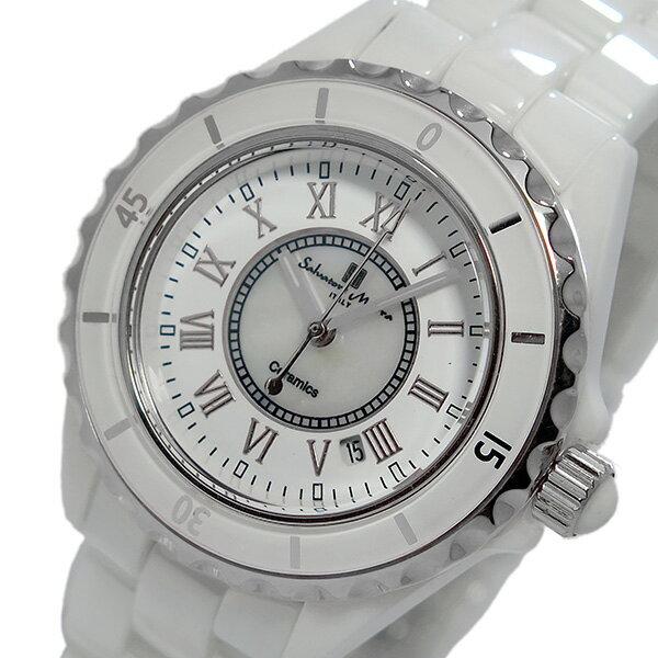 サルバトーレ マーラ クオーツ レディース 腕時計 時計 SM15151-WHR ホワイト/シルバー【楽ギフ_包装】【S1】