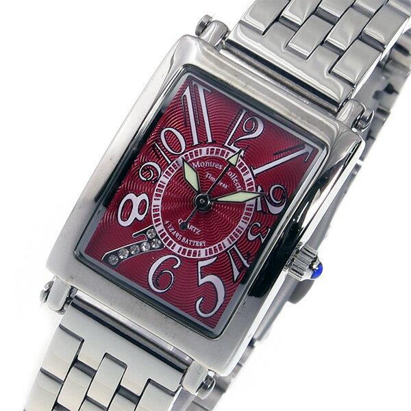 モントレス MONTRES Collection クオーツ レディース 腕時計 時計 MC-2526-7 レッド【ポイント10倍】【楽ギフ_包装】