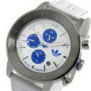 アディダス ADIDAS マンチェスター クオーツ メンズ 腕時計 時計 ADH3098 ホワイト【ポイント10倍】【楽ギフ_包装】