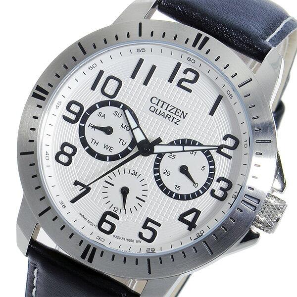 シチズン CITIZEN クオーツ メンズ 腕時計 時計 AG8310-08A ホワイト【ポイント10倍】【楽ギフ_包装】