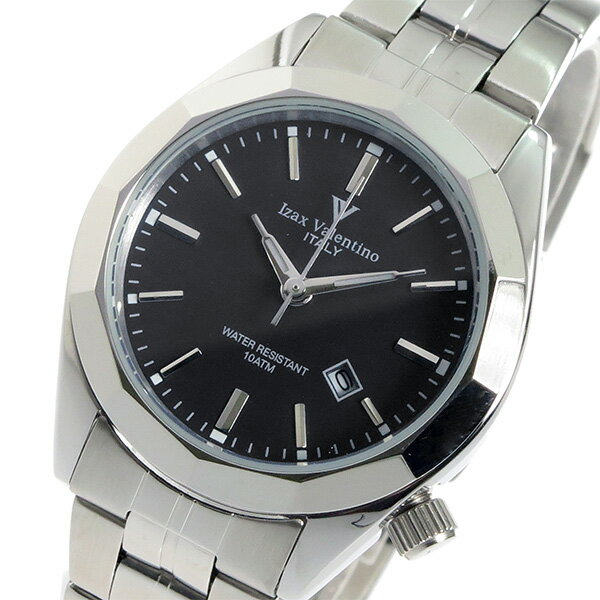 アイザック バレンチノ クオーツ レディース 腕時計 時計 IVL-560-1 ブラック【ポイント10倍】【楽ギフ_包装】【inte_D1806】