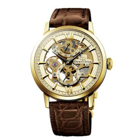 オリエント オリエントスター スケルトン 手巻き メンズ 腕時計 WZ0031DX シャンパンゴールド 国内正規【送料無料】【ポイント10倍】【楽ギフ_包装】