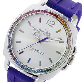 コーチ COACH ボーイフレンド ラインストーンベゼル クオーツ レディース 腕時計 時計 14502530 パープル【S1】