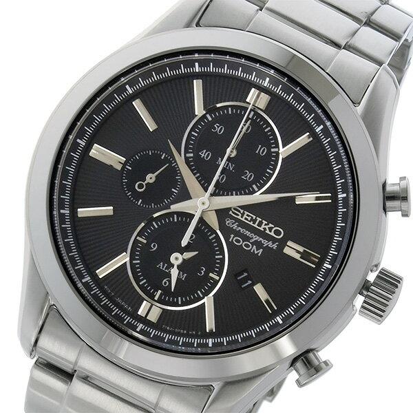 セイコー SEIKO クロノ クオーツ メンズ 腕時計 時計 SNAF67P1 ブラック【ポイント10倍】【楽ギフ_包装】