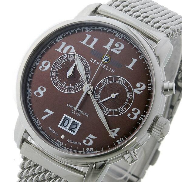ツェッペリン ZEPPELIN クロノ クオーツ メンズ 腕時計 時計 7684M-3 ブラウン【楽ギフ_包装】【S1】