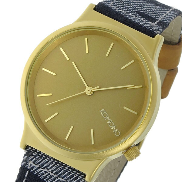 コモノ KOMONO Wizard Print-Denim Zebra クオーツ レディース 腕時計 時計 KOM-W1817 マットゴールド【ポイント10倍】【楽ギフ_包装】【inte_D1806】