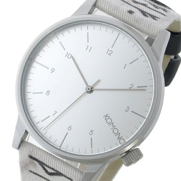 コモノ KOMONO Winston Rune-White クオーツ メンズ 腕時計 時計 KOM-W2159 シルバー【ポイント10倍】【楽ギフ_包装】