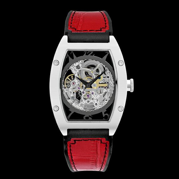 アルカフトゥーラ ARCA FUTURA 自動巻き メンズ 腕時計 時計 スケルトン 978CRD レッド【ポイント10倍】【楽ギフ_包装】